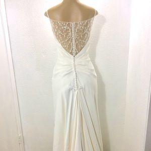 Galina illusion back wedding gown